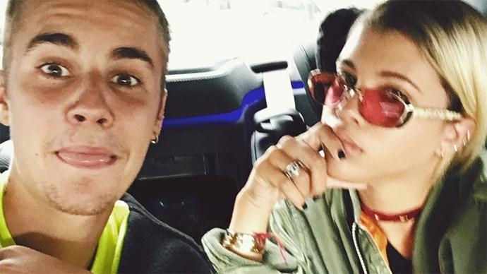 Sofia Richie and Justin Bieber.
