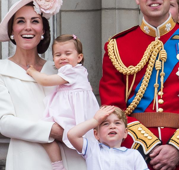 Royal Family at Trooping the Colour 2016