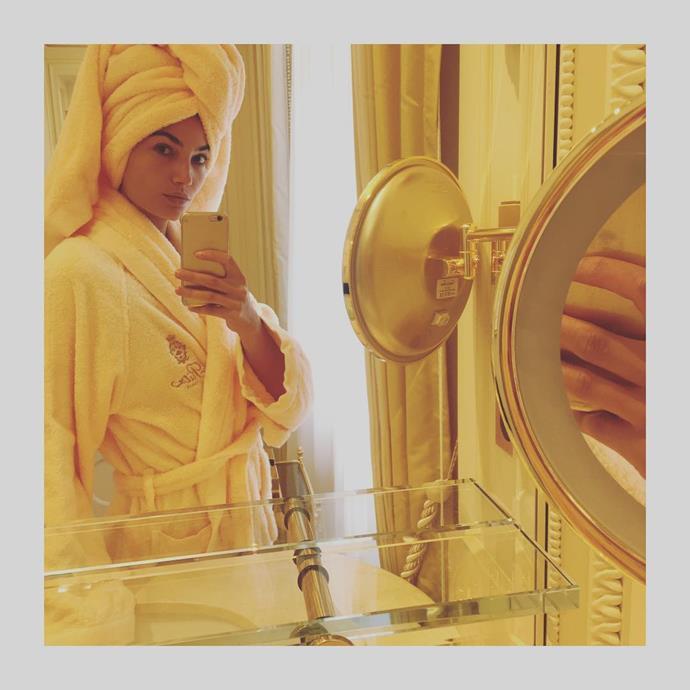 "Lily Aldridge<br> <a href=""https://www.instagram.com/lilyaldridge/"">@lilyaldridge</a>"