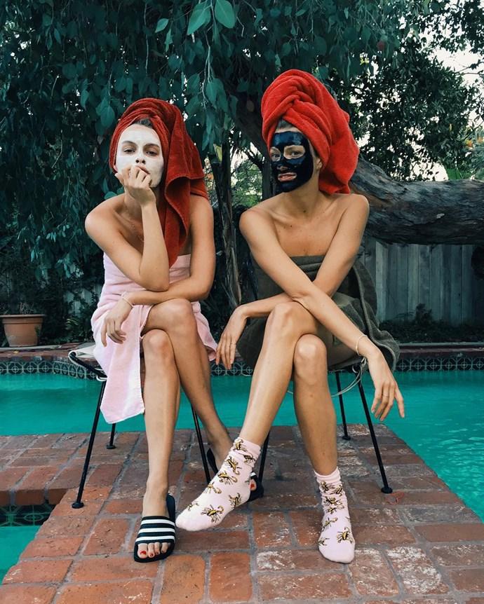 """Alexandra Spencer and Cheryl Humphries <a href=""""https://www.instagram.com/4thandbleeker/"""">@4thandbleeker</a>"""