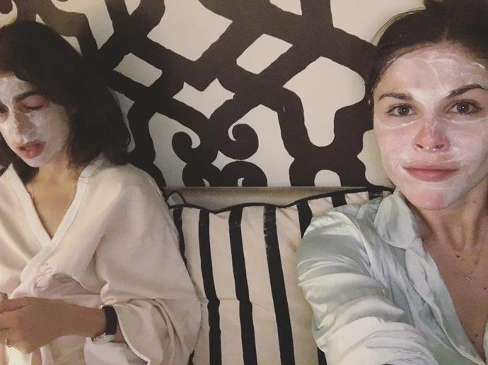 "Leandra Medine and Emily Weiss <a href=""https://www.instagram.com/emilywweiss/?hl=en"">@emilywweiss</a>"