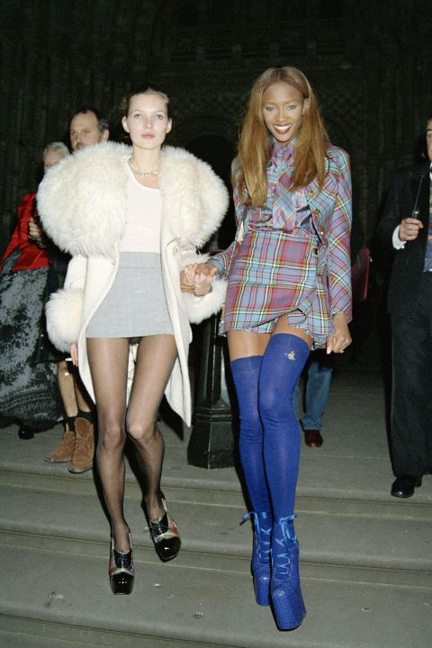 Naomi Campbell's Vivienne Westwood platform boots.