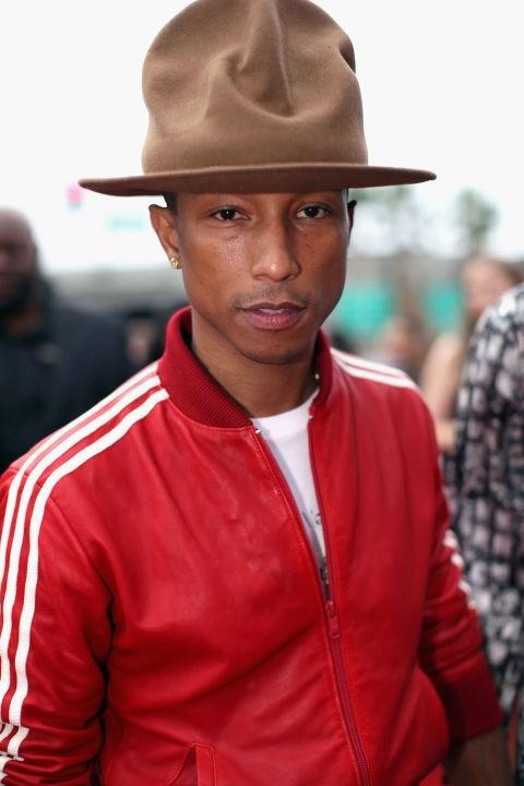 Pharrel's hat.