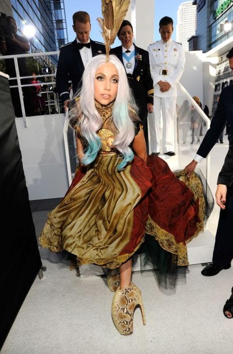 Lady Gaga's Alexander McQueen platforms.
