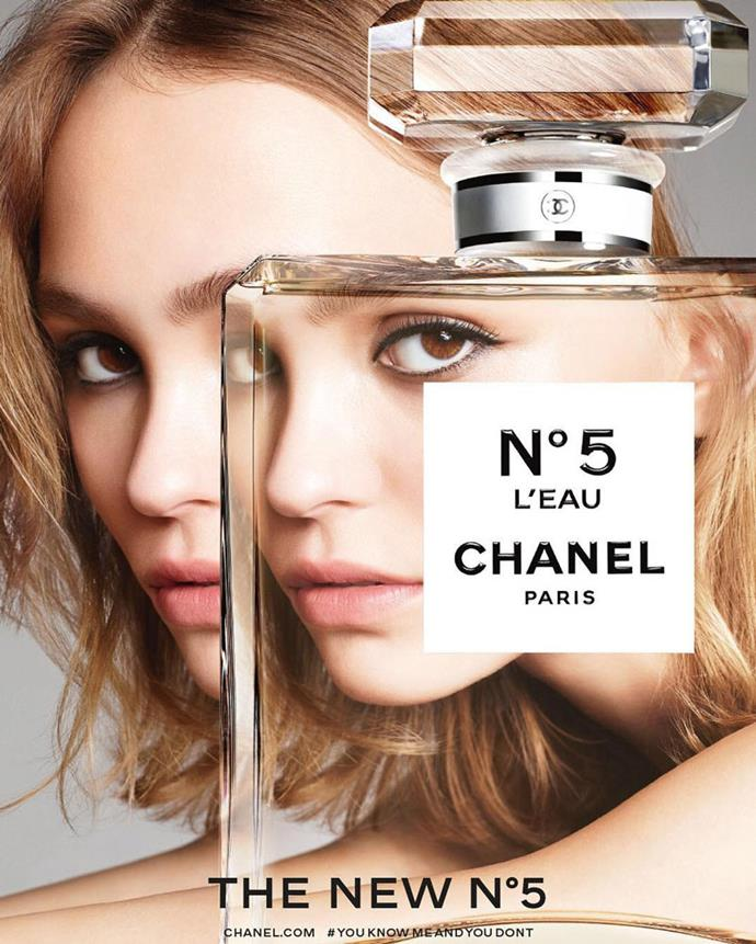 Lily-Rose Depp stars in the new campaign for Chanel's No.5 l'Eau fragrance, photographed by Karim Sadli.
