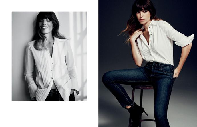 J Brand's AW16 campaign, starring musician and model Lou Doillon.