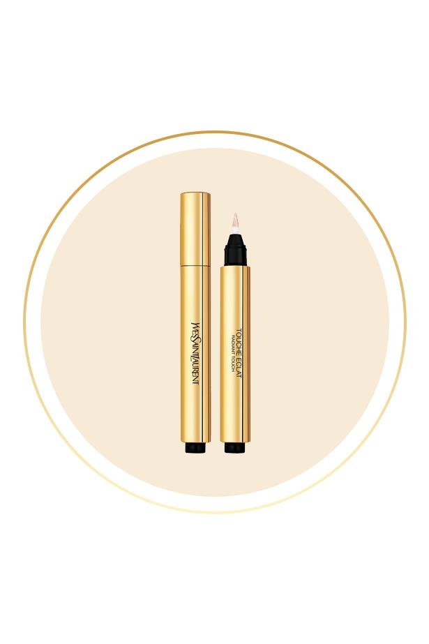 """<p> The Product: <a href=""""http://mecca.com.au/yves-saint-laurent/touche-eclat-radiant-touch/V-009111.html"""">Yves Saint Laurent Touche Éclat</a>.<p> <p> The Hype: A brilliant hybrid between a concealer and a highlighter, this click pen brings light and dimension back into the face."""