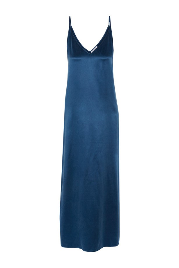 "Dress, $207, <a href=""https://www.theoutnet.com/en-US/product/Equipment/Racquel-silk-charmeuse-midi-dress/741435"">Equipment at theoutnet.com</a>."
