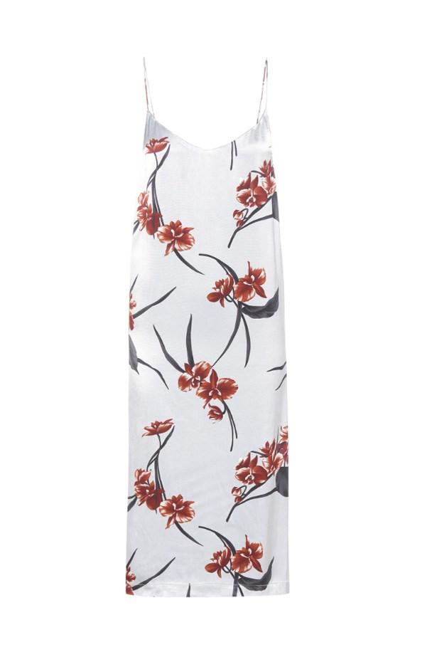 "Dress, $295, <a href=""http://www.mytheresa.com/en-au/floral-printed-satin-slip-dress-610246.html?catref=category"">Ganni at mytheresa.com</a>."