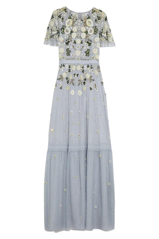 "Dress, $448, <a href=""https://www.net-a-porter.com/au/en/product/706339/needle___thread/embellished-tulle-gown"">Needle & Threat at net-a-porter.com</a>."