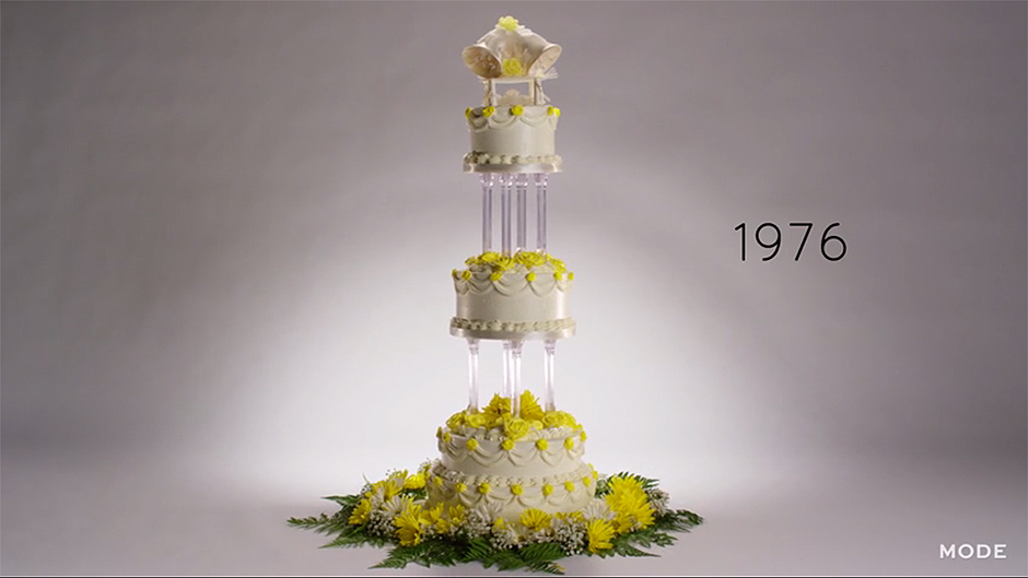 wedding cake trends over the years 100 years of wedding cakes trends in one minute 26721