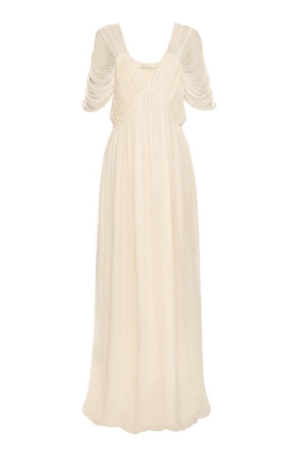 "Dress, $446, <a href=""http://www.matchesfashion.com/au/products/Mes-Demoiselles-Hermes-pleated-chiffon-dress-1044091"">Mes Demoiselles at matchesfashion.com</a>."