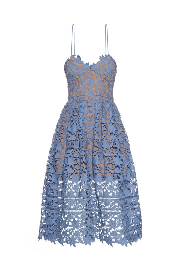 "Dress, $437, <a href=""http://www.matchesfashion.com/au/products/Self-portrait-Azaelea-lace-midi-dress-1045603"">Self-Portait at matchesfashion.com</a>."