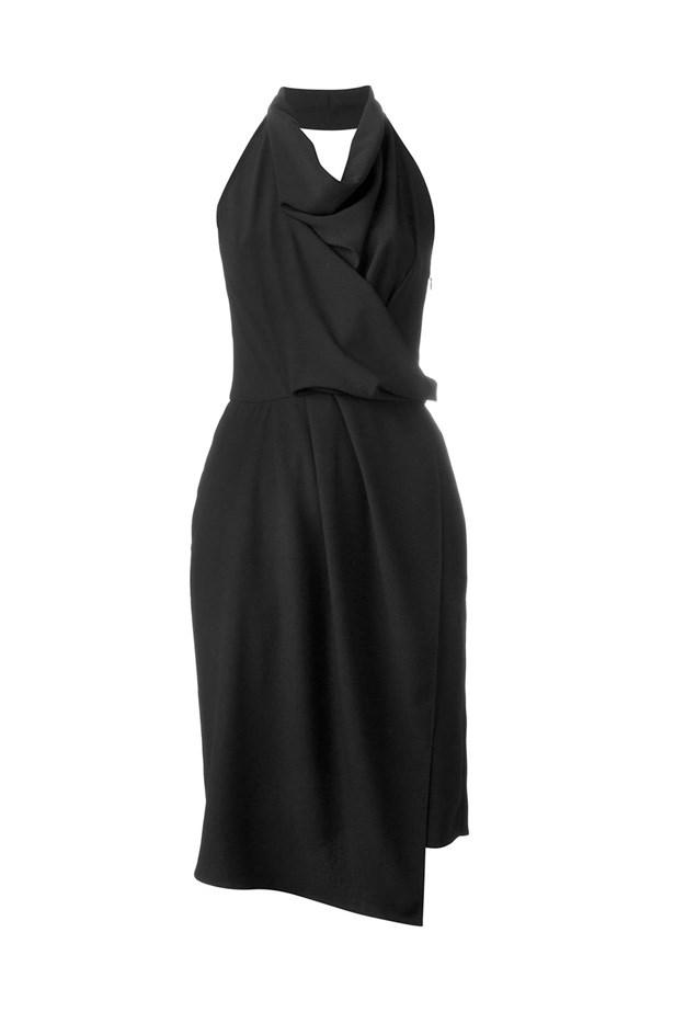 "Dress, $270, <a href=""http://www.farfetch.com/au/shopping/women/carven-draped-halterneck-dress-item-11298860.aspx?storeid=9420&from=listing&tglmdl=1&ffref=lp_pic_635_1_lst"">Carven at farfetch.com</a>."