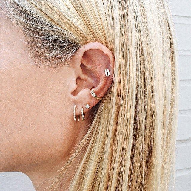 """<p>Maria Tash is a popular piercer with her own range of delicate jewellery. She's also pierced a few famous ears, including Gwyneth Paltrow's, which is pictured here. <p><a href=""""https://www.instagram.com/mariatash/"""" target=""""_blank"""">Instagram.com/mariatash</a>"""
