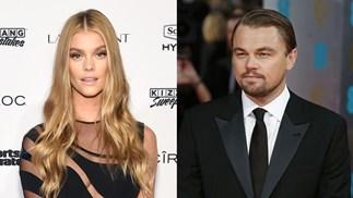 Nina Agdal and Leonardo DiCaprio.
