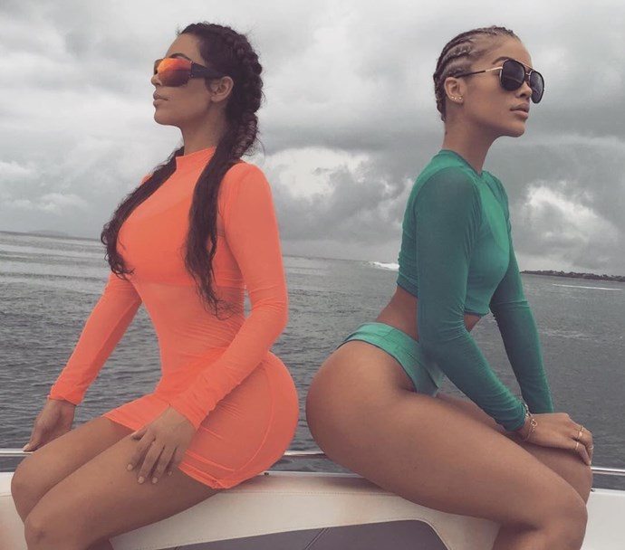 Kim Kardashian and Jasmine Sanders.
