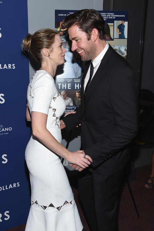 """<p>John <a href=""""http://www.refinery29.com/2016/08/120678/john-krasinski-emily-blunt-singing"""">cried when he heard Emily sing</a> for the first time—true story. He told <em>Entertainment Tonight</em>, """"I came to visit and they were doing the pre-records on <em>Into The Woods</em>. And I remember [director] Rob Marshall turning to me and he said, 'It's so great,' and I said, 'Yeah, I've never seen her sing.' Rob Marshall did the slowest double take of all time. And then, [he] queued a 125-piece orchestra and she started singing and I just wept. I told you that I am a crier, it doesn't take much.""""</p>"""