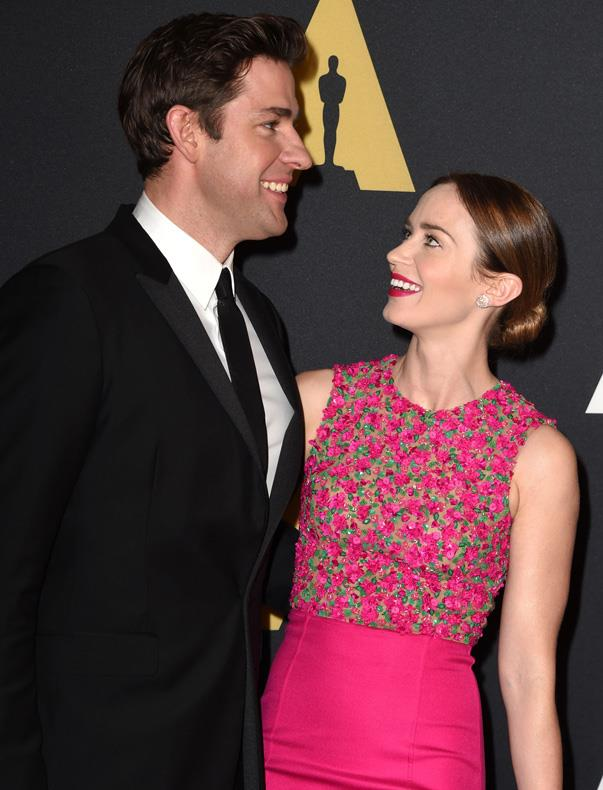 """<p>Everyone loves a <a href=""""https://www.accesshollywood.com/articles/john-krasinski-talks-proposing-to-emily-blunt-76429/"""">proposal story</a>, and John's is also great. He told <em>Access Hollywood</em> in 2009, """"We were here in L.A. and there were unicorns and oceans and clouds. She said yes!"""" OK, so that's not exactly how it went down, so here's the real-but-still-very-romantic version: """"It was very casual. I was nervous and the whole nine yards. She did cry after I cried and we cried and then everyone around us was crying. Then, I think people weren't really sure what was going on, but they were crying because we were crying. But it was great. At the end of the day she said yes which is great. It's a big part of this whole thing.""""</p>"""