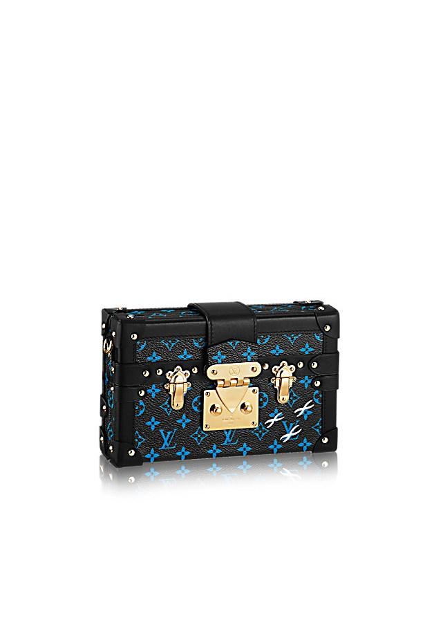 """Clutch, $6550, <a href=""""http://au.louisvuitton.com/eng-au/products/petite-malle-012776"""">Louis Vuitton</a>"""