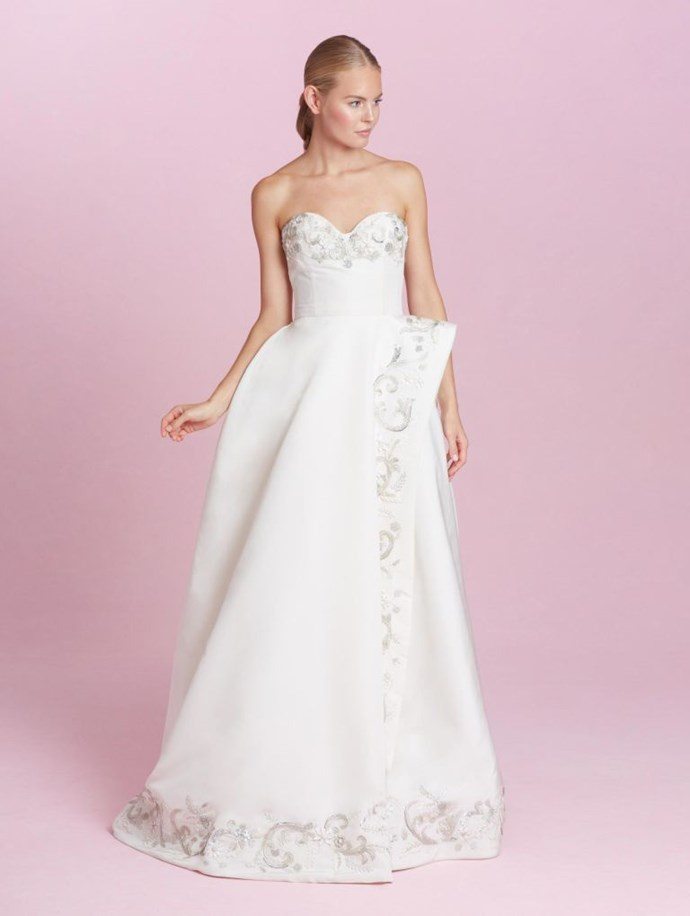 <p>CANCER<p> <p> There's a really traditional side to you, and what could be more bridal than a beautiful sweetheart neckline? When your mom, dad, and especially your spouse-to-be see you for the first time on your wedding day, expect tears. All the tears.