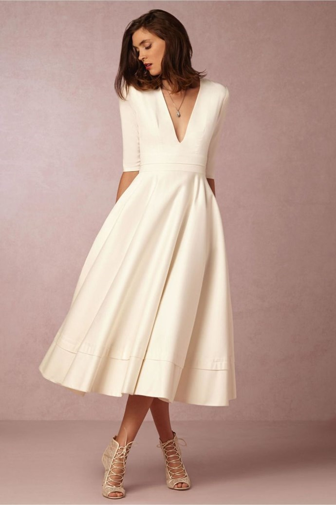<p>CAPRICORN<p> <p> You don't need any frills on your wedding day. You're not extra like that. You're just such a grounded person, you know? Remember, Kate Middleton is a Capricorn. Dedicated to the end, just like you. So let's put you in a contemporary dress with smooth, clean lines.