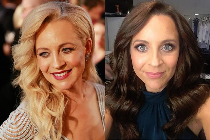 <p> <strong>Carrie Bickmore</strong></p> <p>Carrie Bickmore recently changed her hair from blonde to brown (she's an ambassador for Garnier Nutrisse). On her Instagram she said it was the first time she'd coloured her hair since she was 19.</p>