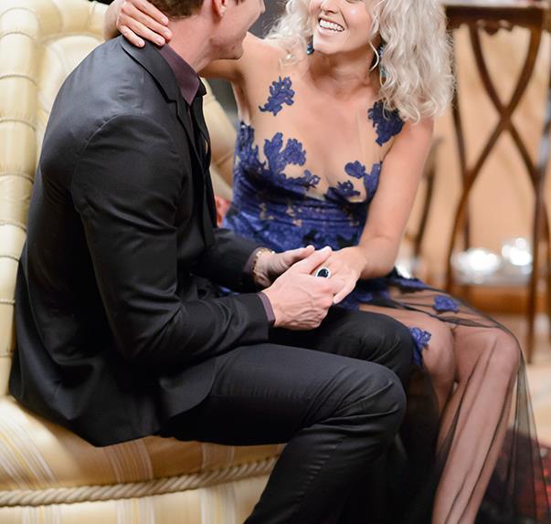 Nikki Gogan and Richie Strahan on The Bachelor