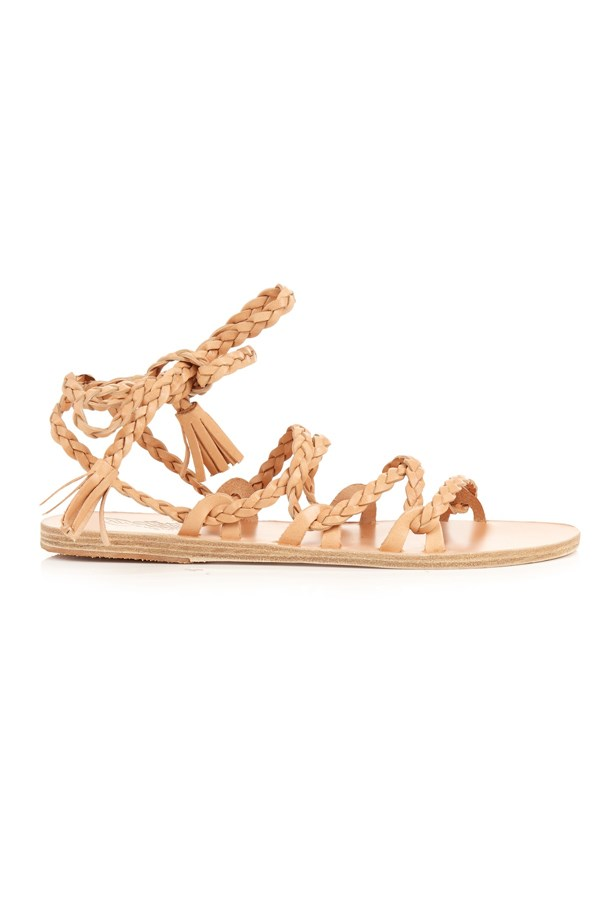 "<P><strong>FOR THE BEACH BRIDE</strong><P> <P> Sandals, $244, <a href=""http://www.matchesfashion.com/products/Ancient-Greek-Sandals-Kariatida-leather-sandals-1048353"">Ancient Greek via matchesfashion.com</a>."
