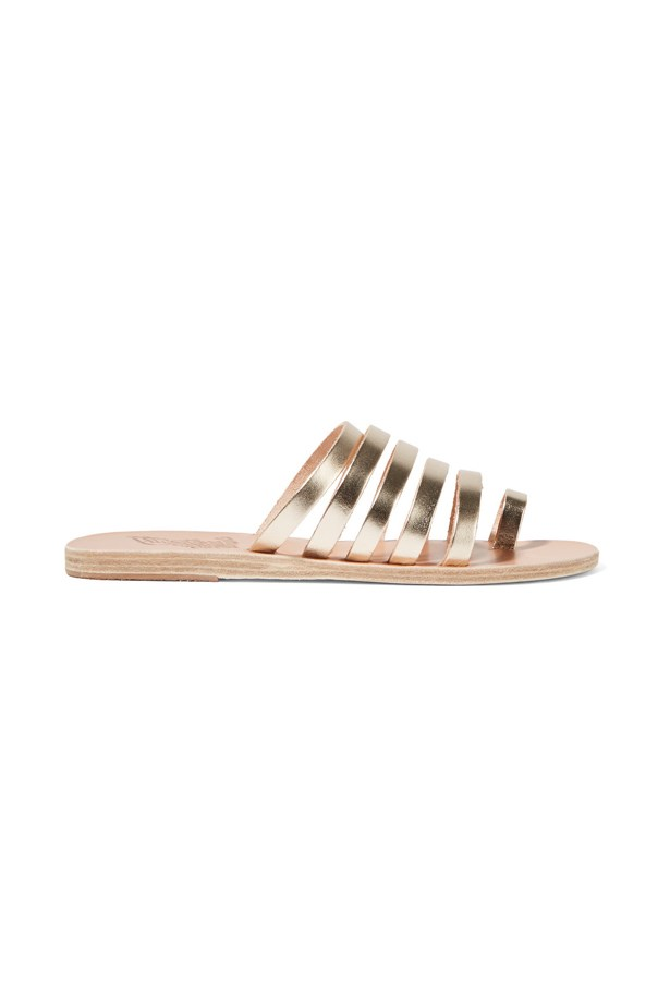 "<P><strong>FOR THE BEACH BRIDE</strong><P> <P> Sandals, $211, <a href=""https://www.net-a-porter.com/au/en/product/714052/ancient_greek_sandals/niki-metallic-leather-sandals"">Ancient Greek via net-a-porter.com</a>."