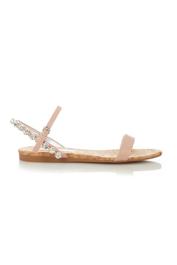 "<P><strong>FOR THE BEACH BRIDE</strong><P> <P> Sandals, $309, <a href=""http://www.matchesfashion.com/products/Stella-McCartney-Jodie-crystal-embellished-sandals-1034406"">Stella McCartney via matchesfashion.com</a>."