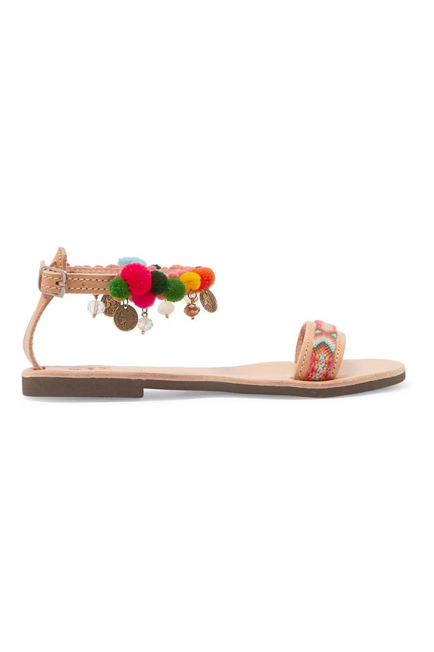 "<P><strong>FOR THE BOHO BRIDE</strong><P> <P> Sandals, $196, <a href=""https://www.net-a-porter.com/au/en/product/691460/mabu_by_maria_bk/embellished-leather-sandals"">Mabu by Maria BK via net-a-porter.com</a>."