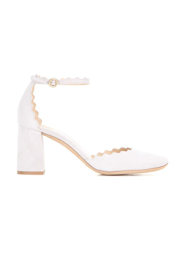 "<P><strong>FOR THE GARDEN WEDDING BRIDE</strong><P> <P> Pumps, $1,140, <a href=""http://www.mytheresa.com/en-au/lauren-leather-pumps-608970.html?catref=category"">Chloé via mytheresa.com</a>."