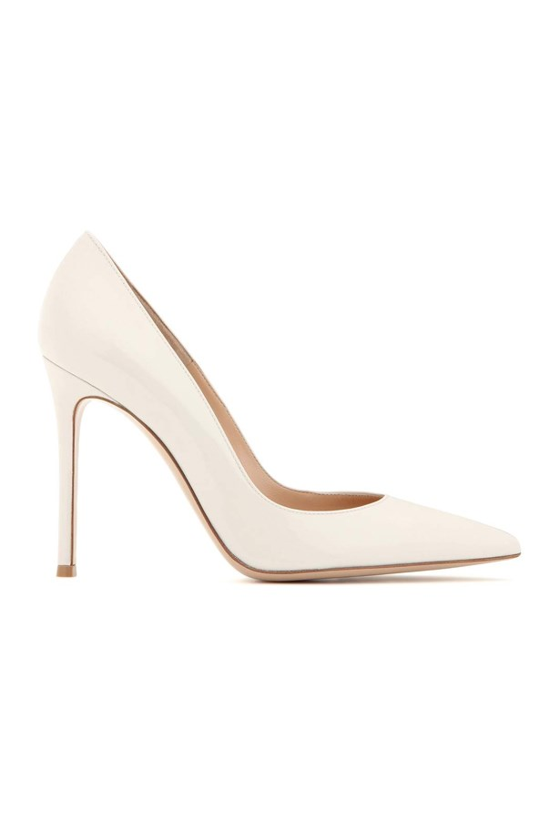 "<P><strong>FOR THE TRADITIONAL BRIDE</strong><P> <P> Pumps, $1,005, <a href=""http://www.mytheresa.com/en-au/gianvito-105-patent-leather-pumps-595765.html?catref=category"">Gianvito Rossi via mytheresa.com</a>."