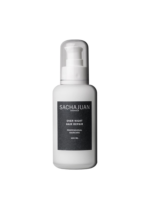 <strong>Over Night Hair Repair </strong><br><br> Combining their signature proteins and minerals from oceanic algae, Sachajuan has created a light-weight, water-based treatment that can be left in all night, so you wake up with stronger, shinier strands. <br><br> <em>Over Night Hair Repair, $57, Sachajuan, sachajuan.com.au </em>