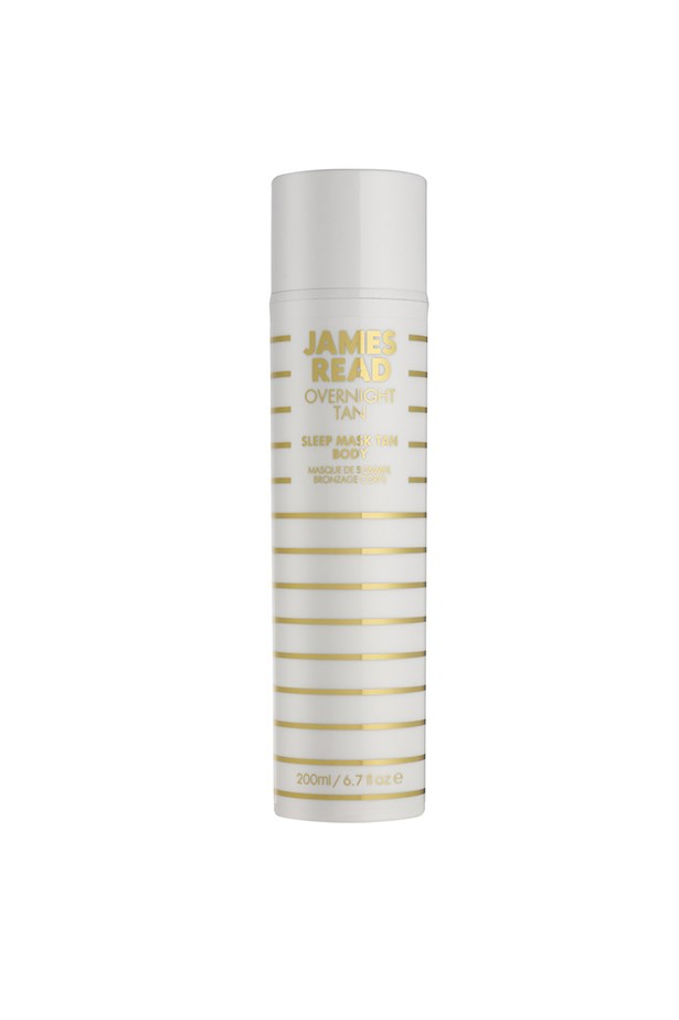<strong>Sleep Mask Tan Body</strong> <br><br> This multitasking wonder is the equivalent of a hydrating, tanning, face mask – but for your body. The lightweight, serum-like formula combines cucumber, hyaluronic acid and self-tan for a golden glow that won't ruin your sheets, or streak, so you can wake up looking like you've just spent a week in Bali. <br><br> <em>Sleep Mask Tan Body, $75, James Read, mecca.com.au </em>