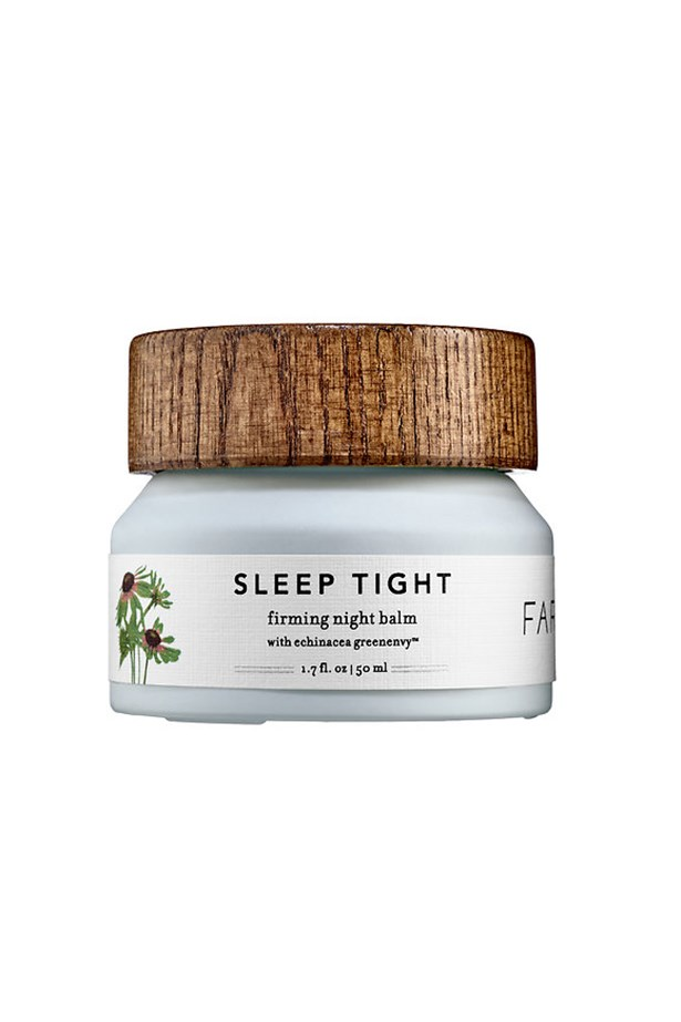 <strong>Sleep Tight Balm</strong> <br><br> The all natural skin care brand, Farmacy, known for its patented Echinacea Green Envy – a potent dose of Cichoric acid notorious for promoting youthful skin - has developed a luxe night balm. The balm turns to oil, melting into the skin to help fight dryness and wrinkles, all while you snooze. <br><br> <em>Sleep Tight Firming Night Balm with Echinacea Green Envy, $48, Farmacy, sephora.com.au </em>