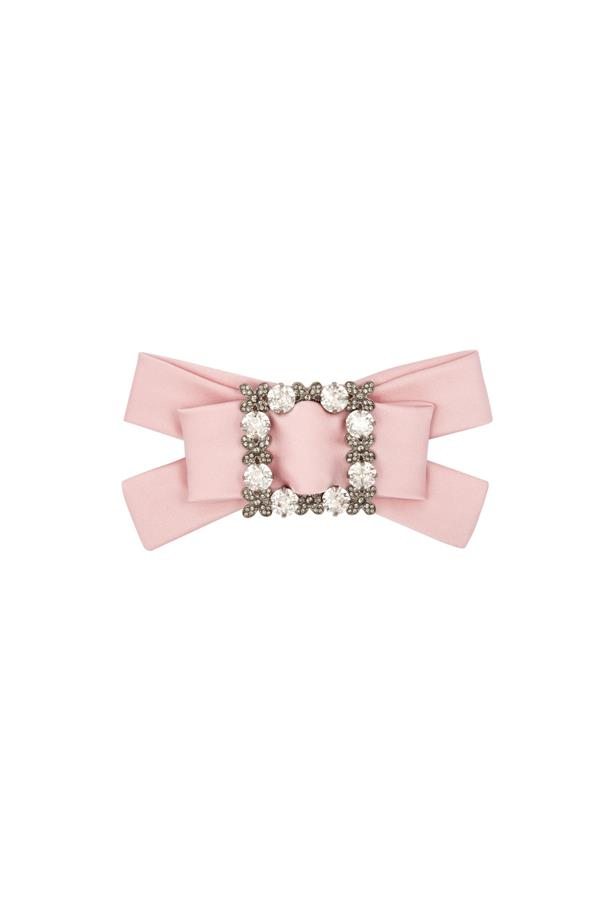 "Hair clip, $753, <a href=""http://www.matchesfashion.com/products/Dolce-%26-Gabbana-Crystal-embellished-silk-satin-hair-clip-1066516"">Dolce & Gabbana via matchesfashion.com</a>."