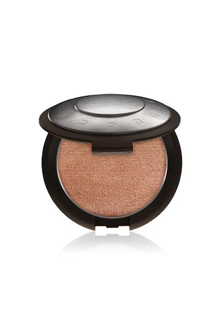 """Shimmering Skin Perfector Pressed in Rose Gold, $60, <a href=""""http://www.sephora.com.au/products/becca-shimmering-skin-perfector-pressed/v/moonstone-95fd7274-60d7-4b1c-8143-16a2a0987925"""" target=""""_blank"""">Becca at sephora.com.au</a>."""
