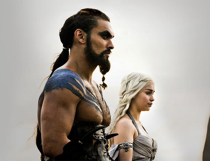 Khal Drogo and Khaleesi.