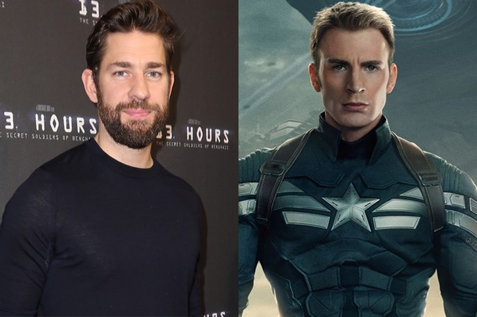 "<p> According to his interview with Conan O'Brien, John Krasinski was in he final stages of securing the role of 'Captain America', but dropped out when he saw Chris Hemsworth in all his Thor-like glory.<p> <p> ""I was putting on the suit just watching it, and like, this is so amazing. And I got about right to my waist, I was still shirtless and feeling pretty good about myself—wasn't <em>13 Hours</em> yet but felt pretty good. All of a sudden Chris Hemsworth walked by as Thor and went 'hey mate', and I went 'I'm good. This is stupid, I shouldn't—It's okay, I'm not going to be Captain America, it's fine.'"""