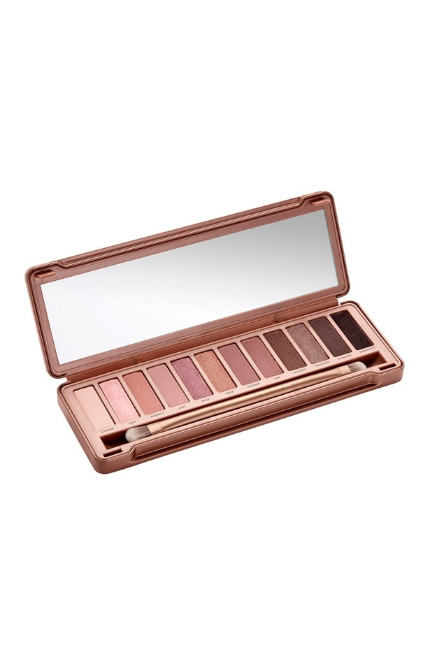 """<p> <a href=""""http://www.urbandecay.com/naked-3-palette-by-urban-decay/409.html?cgid=1_502#start=15&cgid=1_502"""">Urban Decay 'Naked3' Palette</a><p> <p> All three of Urban Decay's 'Naked' palettes (Naked, Naked2 and Naked3), as well as its upcoming 'Naked Ultimate Basics' palette, are highly rated and sought after, but 'Naked3's' shimmering rose-hued neutrals are a winner."""