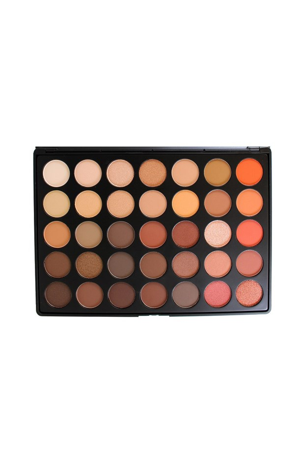 """<p> <a href=""""https://www.morphebrushes.com/collections/pro-makeup-palettes/products/35o"""">Morphe 35o Eyeshadow Palette</a><P> <p> Known for their no-fuss, no-frills approach, this barely-branded palette is simple, diverse and good-quality. And with 35 pans for under $50, it's no wonder it's so popular."""