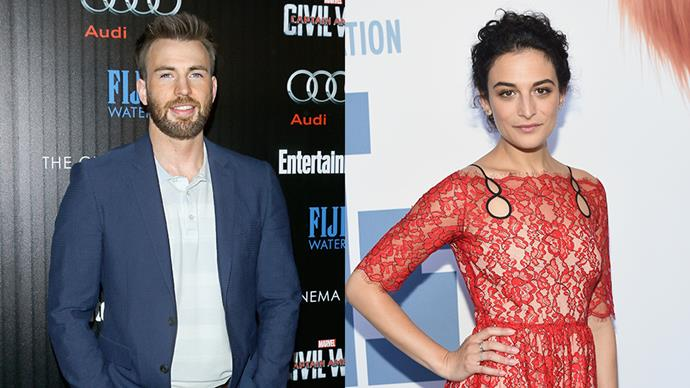 """<p><strong>Chris Evans and Jenny Slate</strong> <p>Chris and Jenny confirmed they were dating in June 2016. Jenny has called Chris her <a href=""""http://www.etonline.com/news/191914_jenny_slate_cannot_stop_gushing_over_dream_boyfriend_chris_evans/"""" target=""""_blank"""">""""dream"""" boyfriend</a>."""