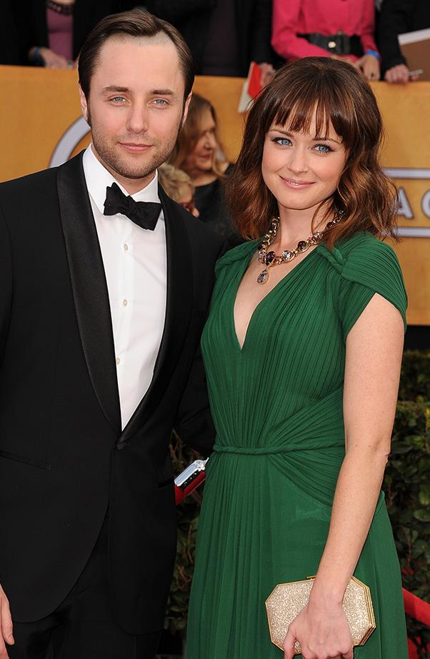 <p><strong>Vincent Kartheiser and Alexis Bledel</strong><br><br>Kartheiser and Bledel met and fell in love while on the set of <em>Mad Men</em>. After dating for some time, the couple were married in California in June 2014 and welcomed a son in 2015.