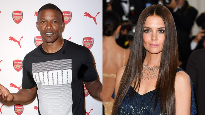 <p><strong>Jamie Foxx and Katie Holmes</strong> <p>Rumours about Jamie and Katie being an item started circulating in 2013 after they were spotted dancing together at a charity event. Their relationship was confirmed in August 2016.