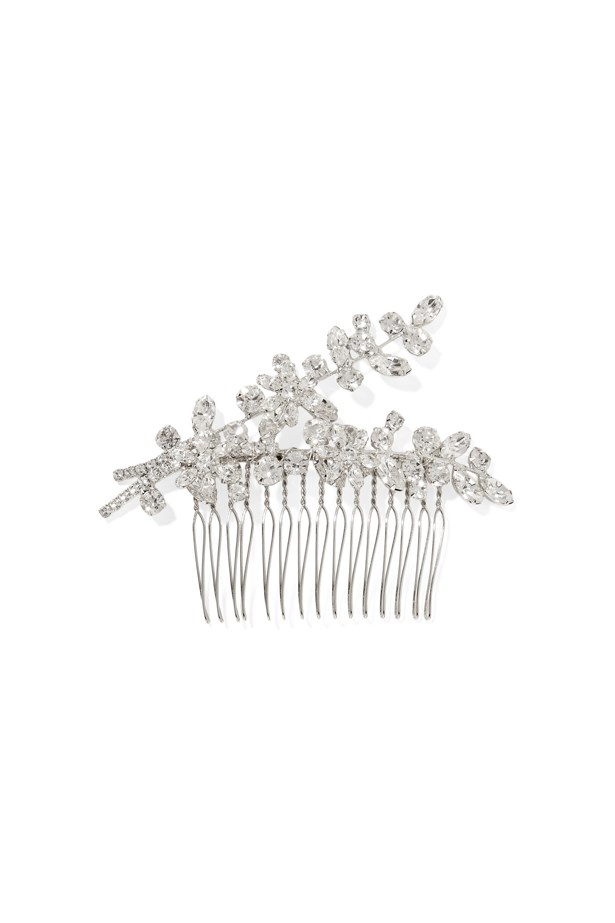 "Hair slide, $369, <a href=""https://www.net-a-porter.com/au/en/product/760928/jennifer_behr/elissa-rhodium-plated-swarovski-crystal-hair-slide"">Jennifer Behr at net-a-porter.com</a>."