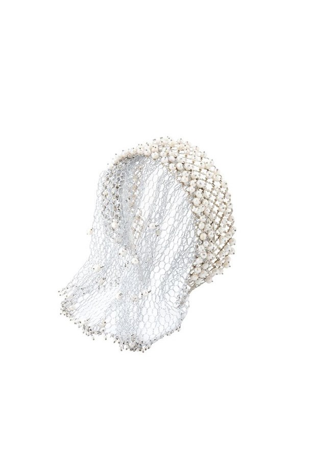 "Headband with veil, $811, <a href=""http://www.luisaviaroma.com/rosantica/women/hair+accessories/62I-L45001/lang_EN/colorid_V0hJVEU1?SubLine=accessories&CategoryId=111"">Rosantica at luisaviaroma.com</a>."