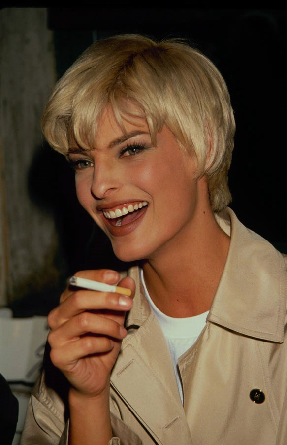 "<strong>Linda Evangelista</strong> <br><br> ""I took a modelling course in my hometown, St. Catharines, Ontario, Canada. It was sort of a scam. In order to work as a model, you had to pay for the classes. My mum paid for me. They sent me there at 16, and I was chosen by a Japanese agency to go over to Japan for the summer to work. My parents were strict Italians who didn't let me go out past 10 o'clock, and I had to choose between going out Friday or Saturday night and was not allowed to have a boyfriend. But they said okay. I got there and it was a catastrophe. They wanted me to take my clothes off and shoot me naked. It was a nightmare and I panicked and basically the Canadian Embassy helped me out. I was there about two days and went home, saying, ""I don't want anything to do with this ever again."" But how I got my start was that my modelling agency insisted I enter the Miss Teen Niagara Pageant."""