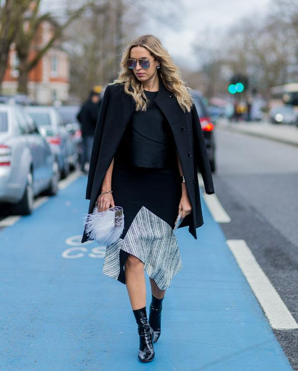 <strong>Sleek & Shiny Ankle Boots</strong> <br><br> Take your cues from Yeezy and opt for a sleek ankle boot to add an edge to your look.